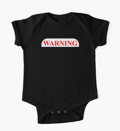 Warning Protected By A Chocolate Lab One Piece - Short Sleeve