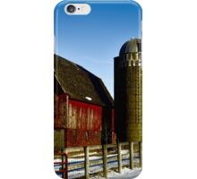 Fenced In Barn iPhone Case/Skin