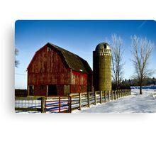 Fenced In Barn Canvas Print