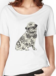 Pug Tattoo Women's Relaxed Fit T-Shirt