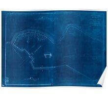Civil War Maps 0394 Fort Sedgwick Inverted Poster