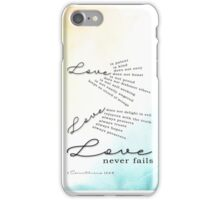 Love - 1 Corinthians 13:4-8 iPhone Case/Skin