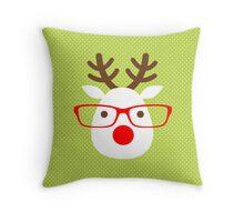 Hipster Reindeer Throw Pillow