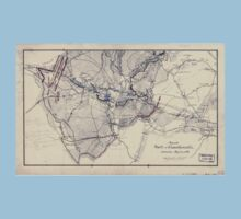 Civil War Maps 0832 Map of the battle of Chancellorsville Saturday May 2nd 1863 One Piece - Short Sleeve