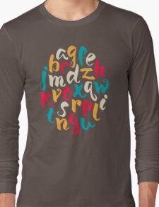Lettering ABC Long Sleeve T-Shirt