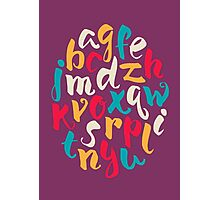 Lettering ABC Photographic Print