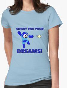 "Megaman Retro Gamer ""Shoot For Your Dreams"" Geek Aspiring Nerd Womens Fitted T-Shirt"