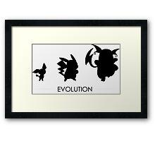 Pokemon Evolution Framed Print