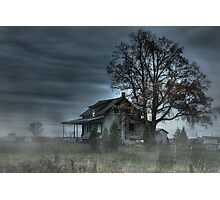 Spooky House Photographic Print