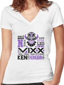 VIXX Collage Women's Fitted V-Neck T-Shirt