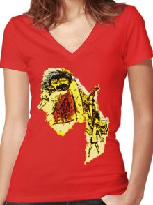 Profondo ... Women's Fitted V-Neck T-Shirt