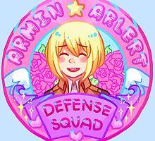 Armin Arlert Defense Squad Merch by marburusu