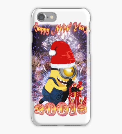 HAPPY  NEW  YEAR WITH BANANA iPhone Case/Skin