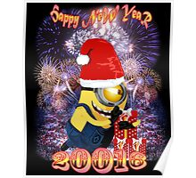 HAPPY  NEW  YEAR WITH BANANA Poster
