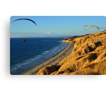 Flying Above Sea Level at Black's Beach Canvas Print
