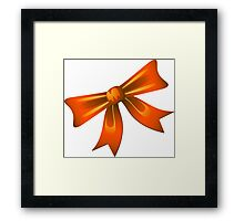 Bow - Ribbon Framed Print