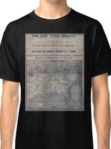 Civil War Maps 1906 War maps and diagrams Classic T-Shirt
