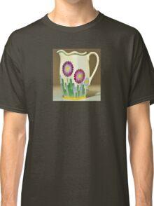 Art Deco Flowers Classic T-Shirt