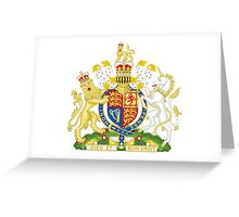 Royal Coat of Arms of United Kingdom (England, Wales, Northern Ireland) Greeting Card