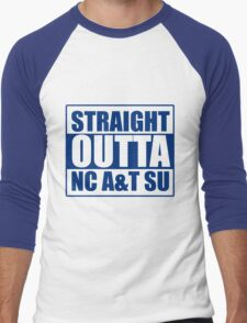 Straight Outta North Carolina A&T SU Men's Baseball ¾ T-Shirt