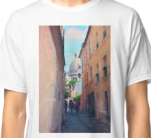 Narrow Streets Of Montmartre Classic T-Shirt