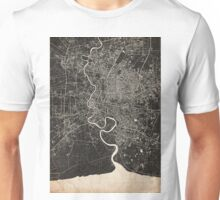 Bangkok map ink lines 2 Unisex T-Shirt