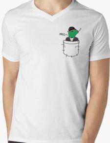 Pocket Reptilian - Leafy ( Leafyishere ) Mens V-Neck T-Shirt