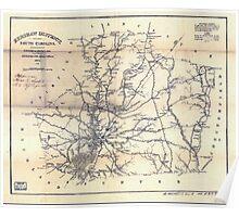 Civil War Maps 0545 Kershaw District South Carolina Poster