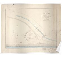 Civil War Maps 1670 Sketch plan of Columbiad Battery Fort Holt Ky opposite Cairo Ill Poster