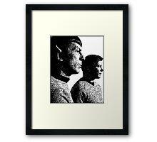 Star Trek Spock&Kirk Framed Print