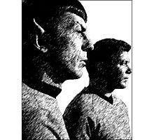 Star Trek Spock&Kirk Photographic Print