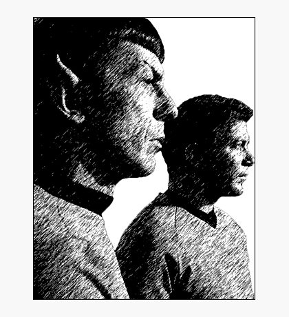 Spock&Kirk Photographic Print