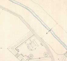 Civil War Maps 1670 Sketch plan of Columbiad Battery Fort Holt Ky opposite Cairo Ill Sticker