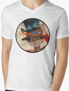 One piece Mens V-Neck T-Shirt