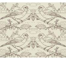 Chaffinch Toile de Jouy Inspired Pale Lime Sticker