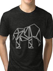 Cool Cut Srtoke Elephant  Tri-blend T-Shirt
