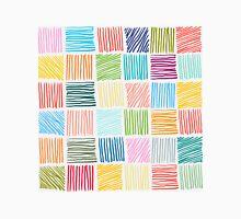 Abstract geometric hand drawn strokes seamless pattern. Unisex T-Shirt