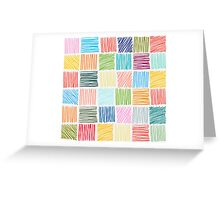 Abstract geometric hand drawn strokes seamless pattern. Greeting Card