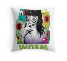 WOEM CHICK Throw Pillow
