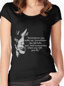Sometimes you wake up Women's Fitted Scoop T-Shirt