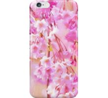 Black Cap Chickadee In Pink Weeping Willow iPhone Case/Skin
