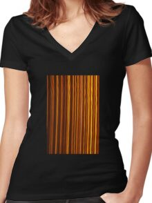 Amber Women's Fitted V-Neck T-Shirt