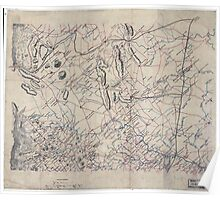 Civil War Maps 2043 Map of parts of Fauquier Prince William and Rappahannock counties Va Poster
