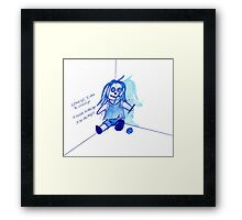 lonely, I'm so lonely Framed Print