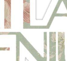 Atlas Genius Vintage Floral Print Sticker