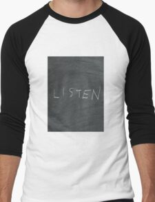 Listen Men's Baseball ¾ T-Shirt