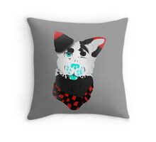 Cool Little Hipster Winking Dog!!! Throw Pillow