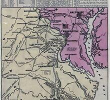 Civil War Maps 1563 Seat of war in America 6d by wetdryvac