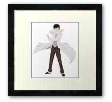 Okabe Rintarou - Scientist Framed Print