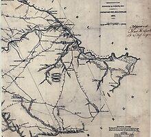 Civil War Maps 0551 Lexington District South Carolina by wetdryvac